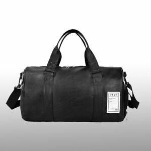 Bag Gym Leather Travel Hand Luggage Men Women Overnight Duffle Genuine Outdoor