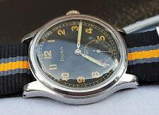 DOXA LUFTWAFFE (D) WEHRMACHT WW2 MILITARY WATCH, Decent watch, Serviced!!