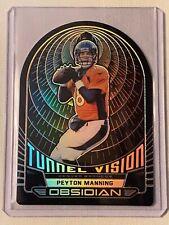 Peyton Manning 2019 Obsidian TV-23 Tunnel Vision Card Broncos 34/50