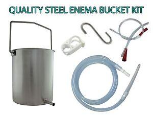 COFFEE ENEMA BUCKET STAINLESS STEEL FOR COFFEE & WATER USE - REUSABLE AUSTRALIA