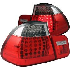 ANZO L.E.D TAIL LIGHTS RED/CLEAR 2PC FOR 02-05 BMW 3 SERIES E46 4DOOR