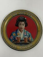 Vintage Cheon Iced Tea Advertising Tip Tray