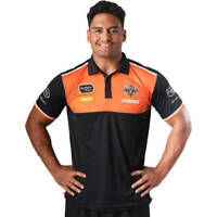 Wests Tigers NRL 2021 Steeden Media Polo Shirt Sizes S-5XL!
