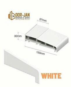 Cheapest 150mm UPVC External Sill for Window Door Patio PVC + 2 Caps (Pair)