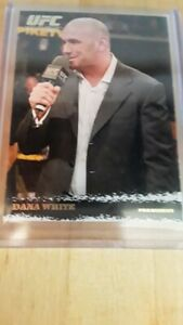 topps ufc round 1 gold parallel Dana White rookie
