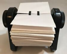 Rolodex RBC-400 Black FLIP Plastic Business Card File Vintage Office MADE IN USA