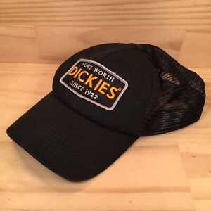 """DICKIES FORT WORTH """"Black"""" Collectable Promotional Adults Baseball Cap Hat"""