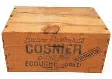 Vintage Butter Transport Crate Wood Cosnier Normandie #091FA