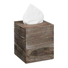 Tücherbox Würfel Shabby Tissue Box Tuchspender Taschentuchbox Kosmetikbox braun
