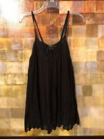 7 FOR ALL MANKIND Black Open Knit  Sleeveless Top Size S (4-6) EUC