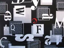 Rush Hour Black Numbers Letters in Boxes Studio E Fabric Yard SALE 30% Off