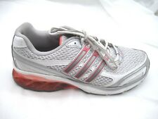 Adidas size 8M Boost silver orange running womens ladies tennis athletic shoes