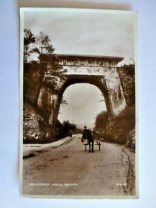 VINTAGE POSTCARD EGYPTIAN ARCH NEWRY REAL PHOTOGRAPH 1947 HORSE & CART (C53)