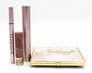 Too Faced Naturally Sexy Ultimate Natural Eye & Lipstick Set - NEW - Damaged Box