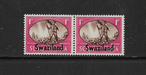 1945 SWAZILAND - VICTORY - BILINGUAL PAIR - MOUNTED MINT.