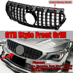 For Mercedes Benz W117 CLA200 CLA260 CLA45 AMG 2013-2016 Black GTR Style Grille