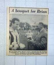 1960 Tooting Vice Captain Brian Bennett Receives Bouquet , Chairman Osterfeld Fc
