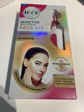 Veet Dermaplaning Skincare Sensitive Precision Face Kit Hair Removal Treatment
