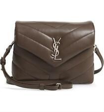 Saint Laurent Monogram Loulou Toy Faggio Monogram Brown Leather Cross Body Bag