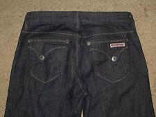 Hudson Size 26 Flap Pocket Dark Blue Stretch Denim Flared Womens Jeans
