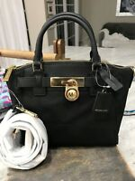 Michael Kors Hamilton Nylon Medium Top-Zip Messenger Bag / Mini Satchel Black
