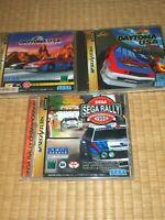 SEGA SATURN Daytona USA Circit Edition Sega Rally 3Lot Bundle Great Condition