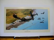 Into the Fray Hawker Hurricane Douglas Bader Richard Taylor Signed Aviation Art