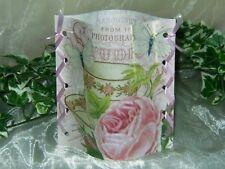 1 Wunderschönes Deko Windlicht Tasse, Rose Tischlicht Unikat