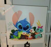 Disney Parks Wonderground Stitch Ohana Tea Party By Steph Laberis LE Canvas