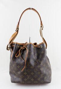 Louis Vuitton Vintage Brown Monogram Coated Canvas Petit Noe Drawstring Handbag