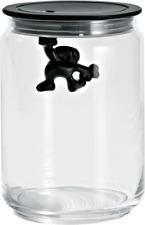 Alessi Gianni Storage Jar Small Black AMDR05 B
