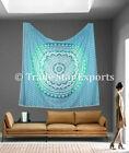 King Size Mandala Tapestry 100% Cotton Bedspread Bohemian Wall Hanging Art