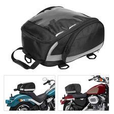 Motorcycle Rear Seat Bag Sport Travel Luggage Helmet Holder Fit For Harley Honda