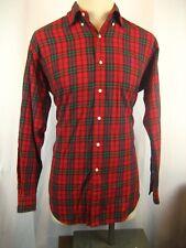 Mens Ralph Lauren Blue Label Blake 100% Cotton LS Red Plaid Casual Shirt sz L?