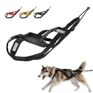 Reflective Dog Weight Pulling Harness Pet X-Back Sledding Training Working Vest