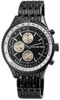 Excellanc Herrenuhr Schwarz Analog Chrono-Look Armbanduhr X-2800045-004