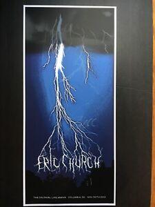Eric Church autographed concert poster Nov 30 2012 Columbia South Carolina