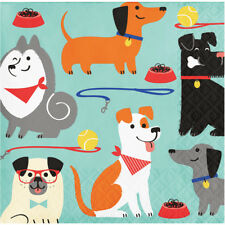 16 x Puppy Dog Party Beverage Drinks Napkins Dog Lovers Birthday Party