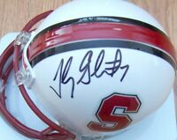 Toby Gerhart autographed signed autograph Stanford Cardinal Riddell mini helmet