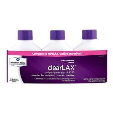 3 pk 17.9 oz member's mark ClearLAX Laxative Compare MiraLax