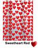 Sweetheart Red Rot Duschvorhang 180 x 200 cm. 100% PEVA Rot Weiß Markenware