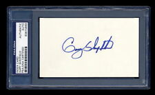 GARY SHEFFIELD SIGNED INDEX CARD MINT PSA/DNA SLABBED AUTOGRAPHED YANKEES