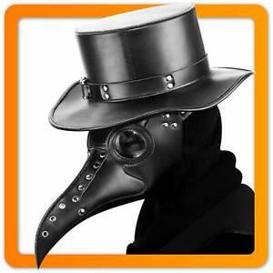 Schnabelmaske Gothic Pestmaske Lederhut Rabenmaske Steampunk Pest Schnabel Maske