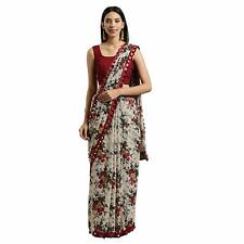 Indian Ethnic Party Wear Sari Designer Bollywood Wedding Georgette Bridal Saree