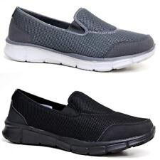 Mens Slip On Get Fit Go Walking Casual Fitness Running Gym Trainers Shoes Size