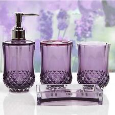 Amazing New Cristallo 4 piece Bathroom Set Bathroom Sink Accessories New Purple