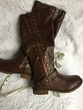 Womens Bamboo Boots Brown Size 7 NWOB