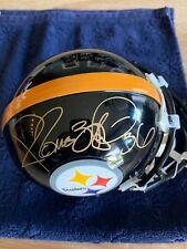 "Jerome Bettis #36 Signed Authentic Steelers Mini Helmet w/COA & Photos ""Mint"""