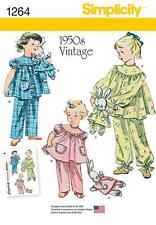 SIMPLICITY SEWING PATTERN Vintage Pajamas and Stuffed Bunny IN PAJAMAS 3-8 1264