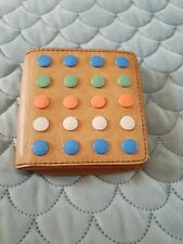 FOSSIL Tan Brown Leather Spot Small Wallet Purse Like New B40